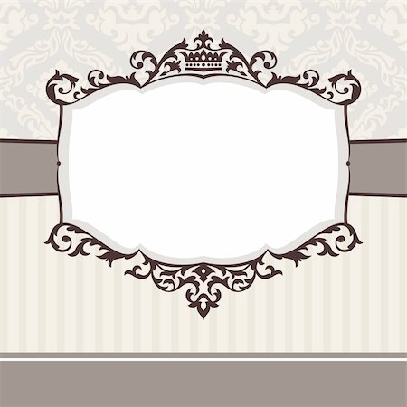 abstract cute decorative vintage frame vector illustration Stock Photo - Budget Royalty-Free & Subscription, Code: 400-05680268