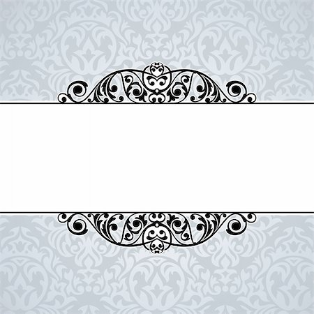 elegant wedding floral graphic - abstract cute decorative vintage frame vector illustration Stock Photo - Budget Royalty-Free & Subscription, Code: 400-05680263