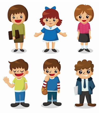 students learning cartoon - cartoon student icon Stock Photo - Budget Royalty-Free & Subscription, Code: 400-05680525
