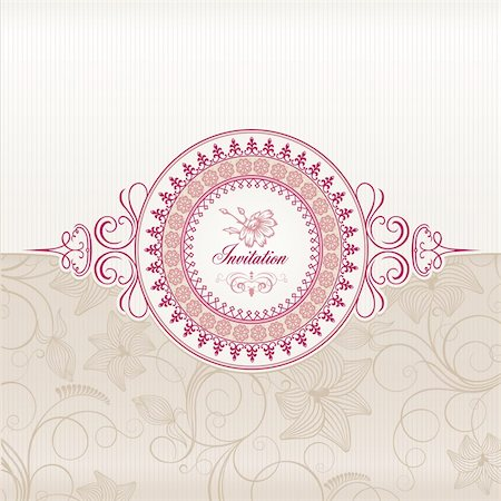 Wedding invitation card template Stock Photo - Budget Royalty-Free & Subscription, Code: 400-05680613