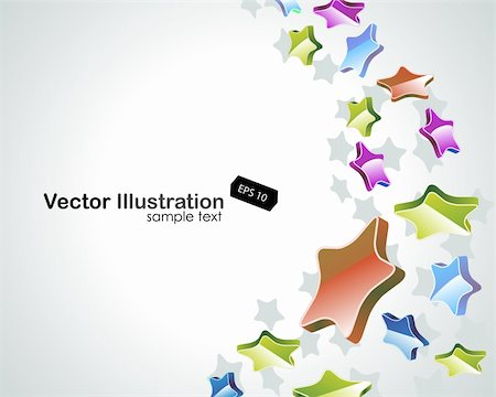 Colorful stars vector background. EPS include Stock Photo - Budget Royalty-Free & Subscription, Code: 400-05682151