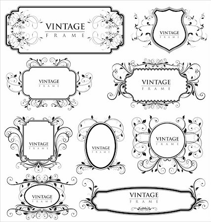 Empty vintage labels Stock Photo - Budget Royalty-Free & Subscription, Code: 400-05682169