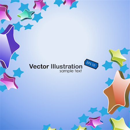 Colorful stars vector background. EPS include Stock Photo - Budget Royalty-Free & Subscription, Code: 400-05682160
