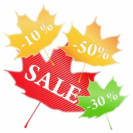 Vector Maple Stickers Stock Photo - Budget Royalty-Free & Subscription, Code: 400-05682656