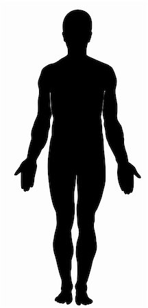 Silhouette of human. Male Stock Photo - Budget Royalty-Free & Subscription, Code: 400-05682903
