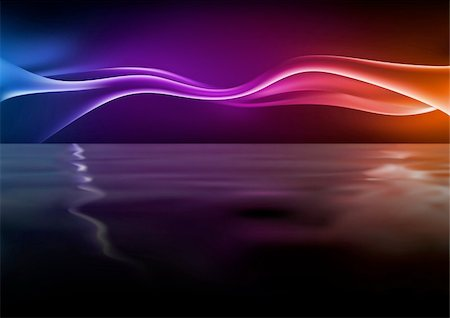 rainbow smoke background - Abstract Waves - Background illustration with rippling effect, Vector Stock Photo - Budget Royalty-Free & Subscription, Code: 400-05683685