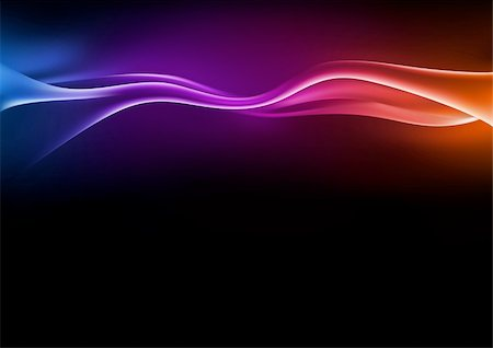 rainbow smoke background - Abstract Waves - Background illustration, Vector Stock Photo - Budget Royalty-Free & Subscription, Code: 400-05683683