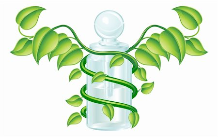 Natural caduceus bottle concept, could be homoeopathy bottle or other natural remedy. Stock Photo - Budget Royalty-Free & Subscription, Code: 400-05683977