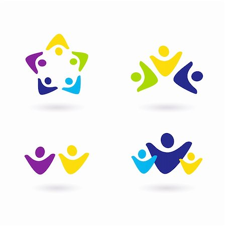 family abstract - Business & community people icon collection. Vector Stock Photo - Budget Royalty-Free & Subscription, Code: 400-05694606