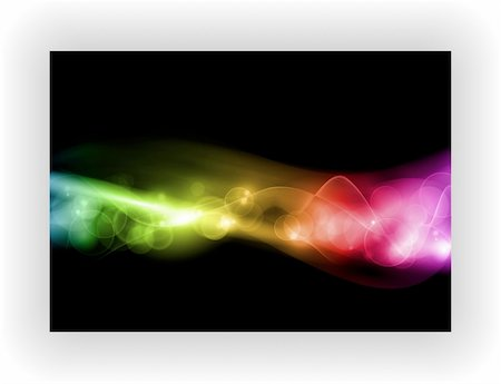 smoke magic abstract - Abstract colorful pattern with defocused lights on black background with space for your text. EPS10, contains transparencies. Stock Photo - Budget Royalty-Free & Subscription, Code: 400-05697200