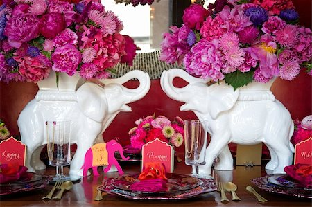 Image of a place setting for Indian wedding Stock Photo - Budget Royalty-Free & Subscription, Code: 400-05697298