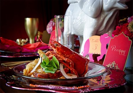 Beautiful image of a gourmet lobster dinner Stock Photo - Budget Royalty-Free & Subscription, Code: 400-05697300