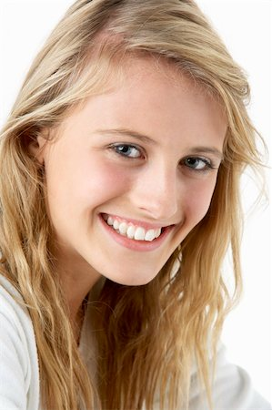 Portrait Of Smiling Teenage Girl Stock Photo - Budget Royalty-Free & Subscription, Code: 400-05697526