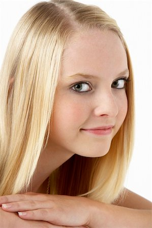Portrait Of Smiling Teenage Girl Stock Photo - Budget Royalty-Free & Subscription, Code: 400-05697552
