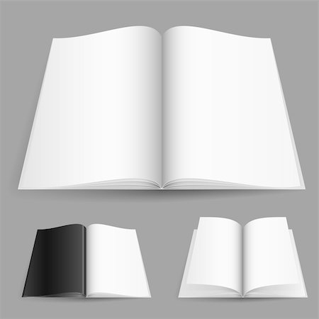 Realistic magazine set number one. Illustration on white background for design. Stock Photo - Budget Royalty-Free & Subscription, Code: 400-05698326