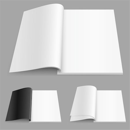 Realistic magazine set number two. Illustration on white background for design. Stock Photo - Budget Royalty-Free & Subscription, Code: 400-05698327