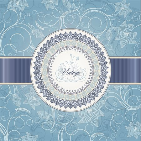 Vector wedding card template Stock Photo - Budget Royalty-Free & Subscription, Code: 400-05699634