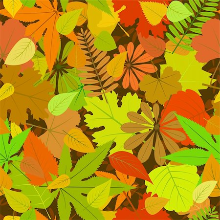 simsearch:400-04744132,k - vector autumn yellow leaf seamless background pattern Stock Photo - Budget Royalty-Free & Subscription, Code: 400-05690237