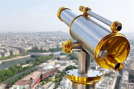 scope - Eiffel Tower telescope Stock Photo - Budget Royalty-Free & Subscription, Code: 400-05690466