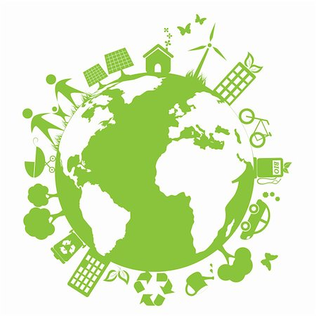 Green and clean environment symbols Stock Photo - Budget Royalty-Free & Subscription, Code: 400-05692091