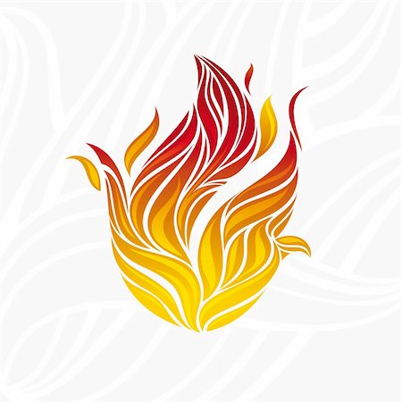 abstract artistic fire flame card vector illustration Stock Photo - Budget Royalty-Free & Subscription, Code: 400-05692200