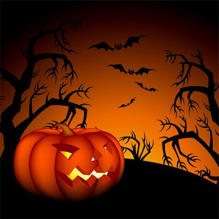 halloween background, this illustration may be useful as designer work Stock Photo - Budget Royalty-Free & Subscription, Code: 400-05692281