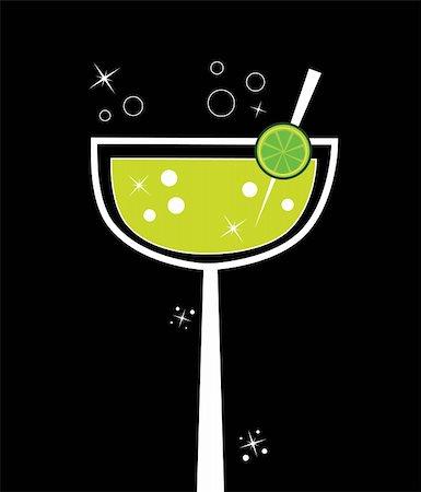 Fancy margarita alcohol lime lemon drink Stock Photo - Budget Royalty-Free & Subscription, Code: 400-05692321