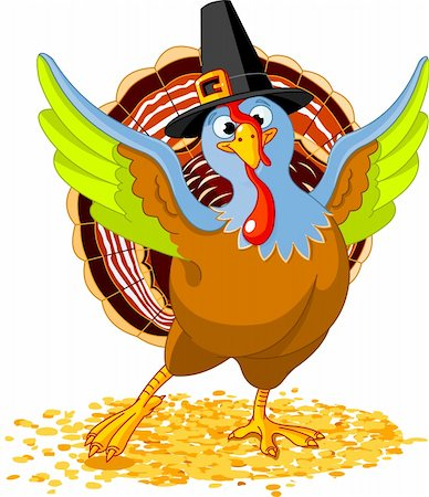 Illustration of Happy Thanksgiving Turkey Stock Photo - Budget Royalty-Free & Subscription, Code: 400-05693183