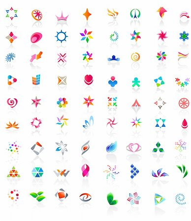 72 different colorful vector icons: (set 2) Stock Photo - Budget Royalty-Free & Subscription, Code: 400-05693245