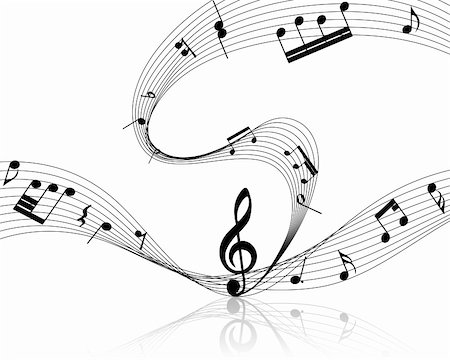 simsearch:400-04676325,k - Vector musical notes staff background for design use Stock Photo - Budget Royalty-Free & Subscription, Code: 400-05693778