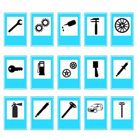 spark vector - Auto Car Repair Service Icon Symbol Stock Photo - Budget Royalty-Free & Subscription, Code: 400-05704840