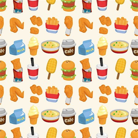sandwich wrapper - seamless fast food pattern Stock Photo - Budget Royalty-Free & Subscription, Code: 400-05704900
