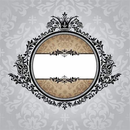 elegant wedding floral graphic - abstract royal ornate vintage frame vector illustration Stock Photo - Budget Royalty-Free & Subscription, Code: 400-05706267