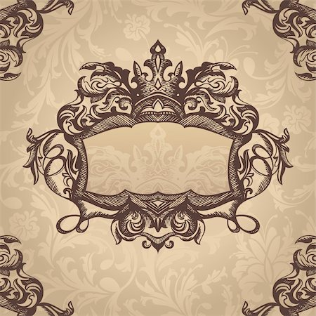 abstract royal retro vintage frame vector illustration Stock Photo - Budget Royalty-Free & Subscription, Code: 400-05706288