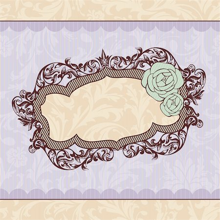 abstract royal ornate vintage frame vector illustration Stock Photo - Budget Royalty-Free & Subscription, Code: 400-05706325