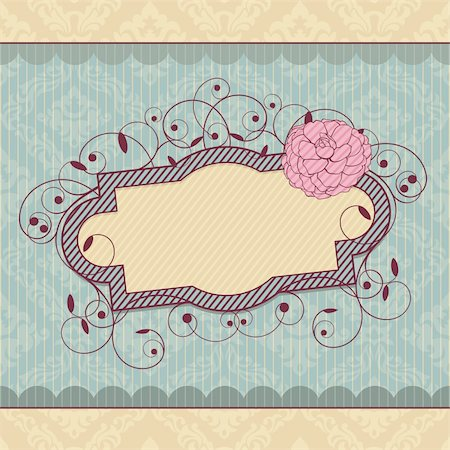 abstract royal ornate vintage frame vector illustration Stock Photo - Budget Royalty-Free & Subscription, Code: 400-05706341