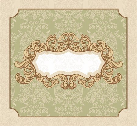 abstract royal floral vintage frame vector illustration Stock Photo - Budget Royalty-Free & Subscription, Code: 400-05706356