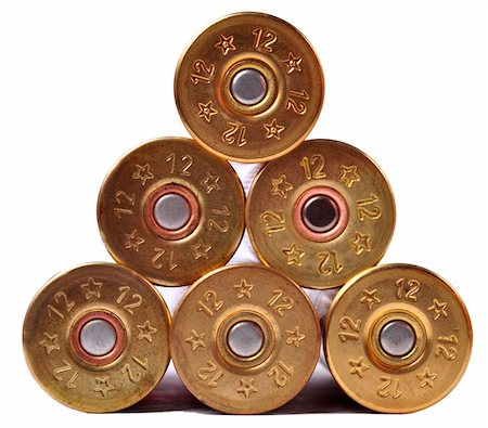 12 gauge shtogun shells used for hunting Stock Photo - Budget Royalty-Free & Subscription, Code: 400-05706427
