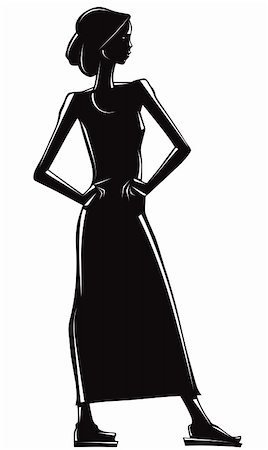 simsearch:400-04096935,k - Elegant girl silhouette. Stock Photo - Budget Royalty-Free & Subscription, Code: 400-05706445