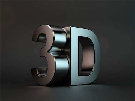 fancy letters - 3d render of 3D text with reflection on black background Stock Photo - Budget Royalty-Free & Subscription, Code: 400-05706528