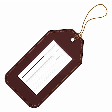 scalable - Luggage tag with copy space over white background Stock Photo - Budget Royalty-Free & Subscription, Code: 400-05706553
