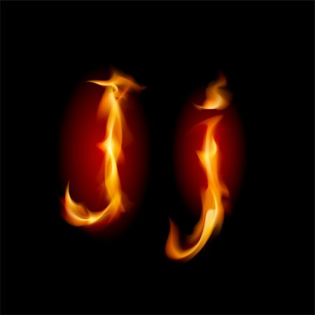 smoke magic abstract - Fiery font. Letter J. Illustration on black background Stock Photo - Budget Royalty-Free & Subscription, Code: 400-05706785