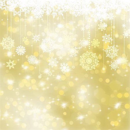 spark vector - Elegant gold christmas background. EPS 8 vector file included Stock Photo - Budget Royalty-Free & Subscription, Code: 400-05706872
