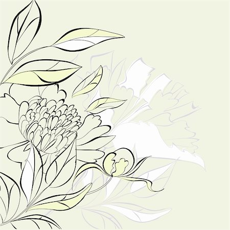 Decorative floral background Stock Photo - Budget Royalty-Free & Subscription, Code: 400-05708264