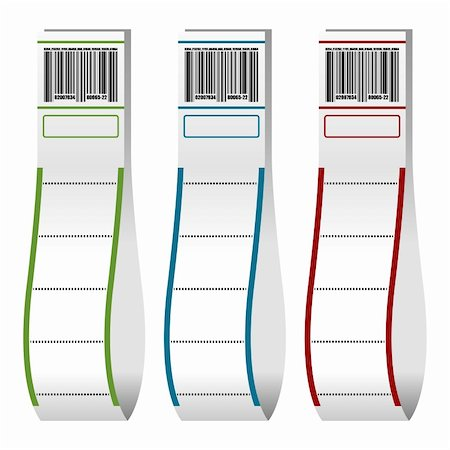 scalable - Luggage paper tags with barcode over white background Stock Photo - Budget Royalty-Free & Subscription, Code: 400-05709164