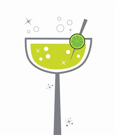 fun happy colorful background images - Cute alcohol margarita lime lemon drink Stock Photo - Budget Royalty-Free & Subscription, Code: 400-05709194