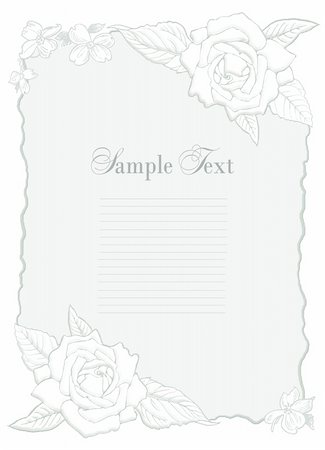 Wedding and valentine invitation, frame with flowers Stock Photo - Budget Royalty-Free & Subscription, Code: 400-05701165