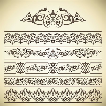 Calligraphic design elements and page decoration set Stock Photo - Budget Royalty-Free & Subscription, Code: 400-05702264