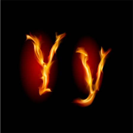 smoke magic abstract - Fiery font. Letter Y. Illustration on black background Stock Photo - Budget Royalty-Free & Subscription, Code: 400-05702733