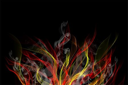 Abstract background of colorful flames and smoke Stock Photo - Budget Royalty-Free & Subscription, Code: 400-05702889